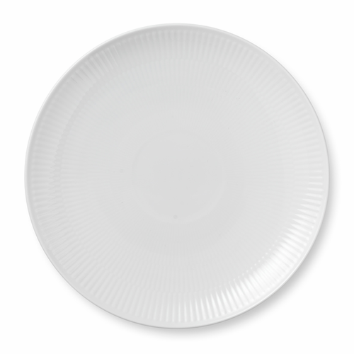 White Fluted Plain Salad Plate Coupe, 9""