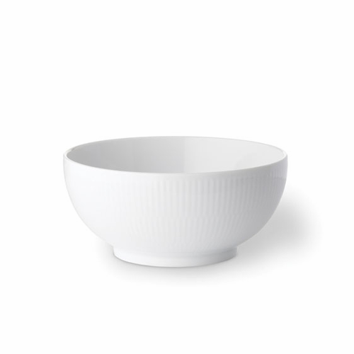 White Fluted Plain Serving Bowl, 1 qt