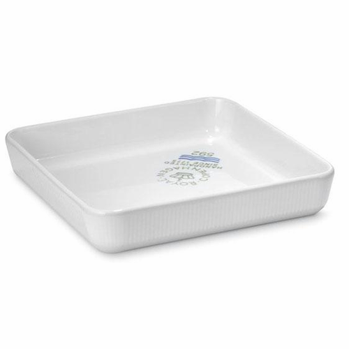 White Fluted Plain Square Ovenware