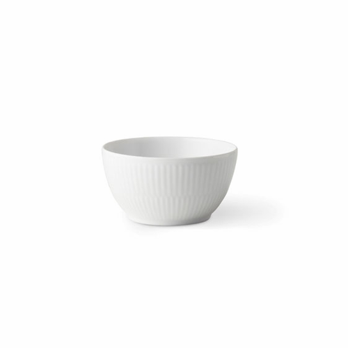 White Fluted Plain Sugar Bowl