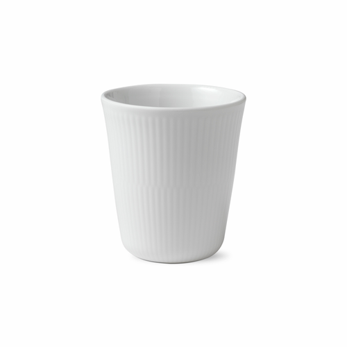 White Fluted Plain Thermal Cup, 9.75oz