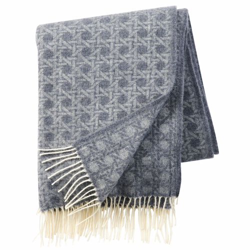 Wien 1900 Brushed Cashmere & Merino Wool Throw, Dark Grey
