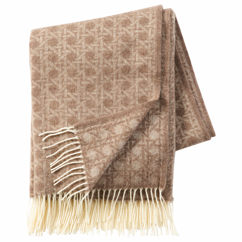 Wien 1900 Brushed Cashmere & Merino Wool Throw, Sand