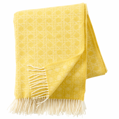 Wien 1900 Brushed Cashmere & Merino Wool Throw, Yellow