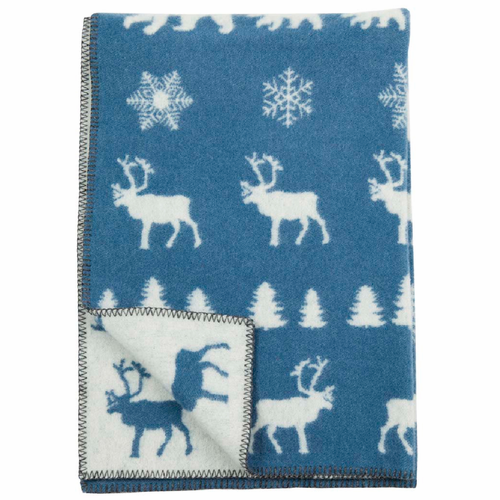 Wilderness ECO Wool Children's Blanket, Ice Blue