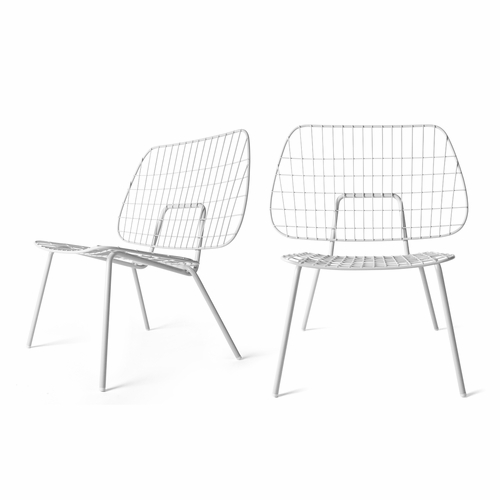 WM String Lounge Chair, 2-Pack, White