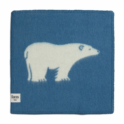 Isbjorn Blue Woolen Seating Pad
