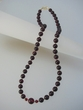 Cherry Baltic  Amber Beaded  Necklace & Vermeil - SOLD