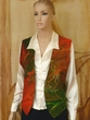 Art on Fashion.Hand Painted Vest.