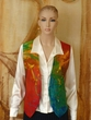 Hand Painted Pure Silk Women's Vest.