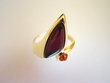 Cherry & Honey Baltic Amber Sterling Silver Ring - AM4403R