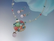 Artistic Freshwater / Turquoise / Pearl Pendant Necklace and Earrings Set