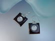 Black Mother of Pearl Sterling Silver Dangle Earrings