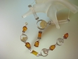 Coin Necklace Set - Genuine Baltic Amber and Sterling Silver Jewelry