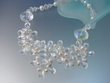 Freshwater Pearl  & Crystal  Two  Rows Beaded Necklace