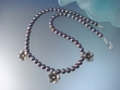 Freshwater Pearl   with  Sterling  Silver  Flower  Necklace