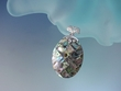 Mosaic  Abalone  Sterling  Silver  Pendant  Necklace