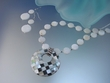 Mosaic  Mother of Pearl  Pendant  Necklace  and  Earring Set.