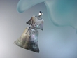 Large Mother of Pearl Sterling  Silver Pendant Necklace