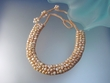 Organic Light  Peach Freshwater Pearl  Necklace