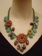Picture Jasper / Aventurine / Red Malachite Necklace.