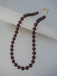 Classic  Cherry  Baltic  Amber  Round  Beads  & Vermeil  Necklace