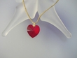 Red Swarovski Crystal Heart Pendant Necklace