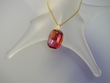 Red  Magma  Swarovski Crystal  Pendant Necklace