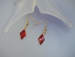 Red Swarovski Crystal Drop Earrings