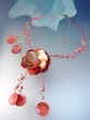 Hibiscus Shell  Pendant  Necklace  and  Earrings set
