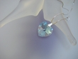 Light Sapphire Swarovski Crystal Heart  Pendant Necklace