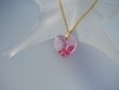 Rose Swarovski Heart pendant Necklace