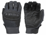 Damascus Nitro Kevlar Leather and Carbon-Tek Fiber Knuckle Gloves DMZ33