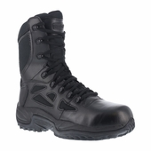 Reebok Rapid Response Athletic Stealth Tactical Boots Side Zipper / Safety Toe RB8874