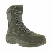 Reebok Sage Green Military Boots Comp Toe / Side Zipper RB8990