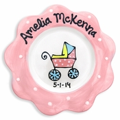 Baby Carriage Plate Girl