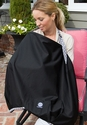 "Balboa Baby Nursing Cover Black with Diamond Trim ""OUT of STOCK"""