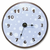 Trend Lab Polka Dot Wall Clock Blue/Brown