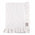 Trend Lab Cream Swirl Velour Ruffle Receiving Blanket