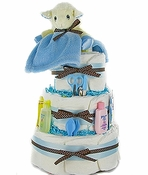 Little Lamb 3 Tier Diaper Cake-Boy