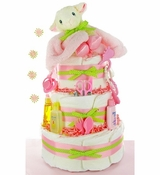 Little Lamb 3 Tier Diaper Cake-Girl