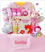 Little Safari Baby Girl Gift Basket