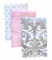 New Arrivals Stella Gray Burp Cloth Set