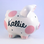 Pink Polkadot Piggy Bank