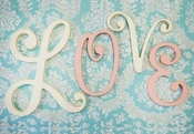 "New Arrivals 9"" Cursive Wooden Letters"
