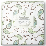 Ultimate Swaddle Receiving Blanket Triplets Paisley Kiwi