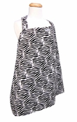 Trend Lab Nursing Cover - Black and White Zebra