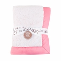 Trend Lab Pink Peek-A-Boo Faux Fur Receiving Blanket