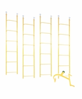 ACRO 11610-COMBO Set Contains (4) 6ft Ladder Sections & (1) Reinforced Hook
