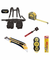 Bucket Boss Ballistic Kit, Suspension Tool Belt Tape Measure Stud Finder & Knife